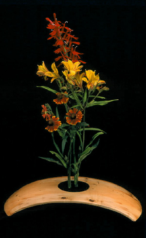 Wood Turnings Anuenue Ikebana Flower Vase