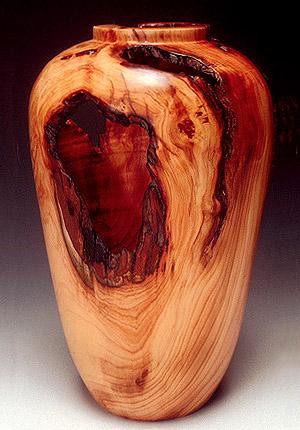 Wood Turnings English Yew Wood Root Vase